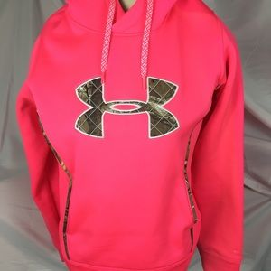 4228d15e6e35 ... Under Armour Hot Pink Hoodie - EUC Green Tea Teal ...